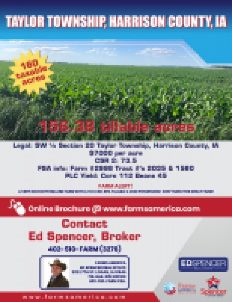 Under Contract - 160 Acres - High Csr - Harrison County, Ia